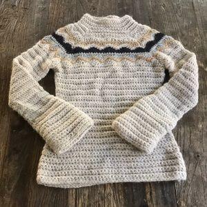 J Crew Alpaca Wool Hand Knit Mockneck Sweater XS